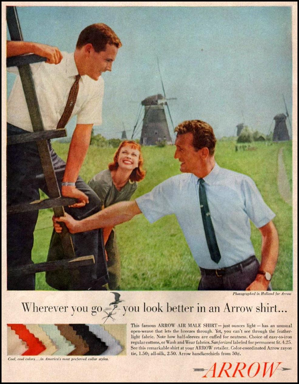 ARROW SHRITS SATURDAY EVENING POST 06/04/1960 p. 60