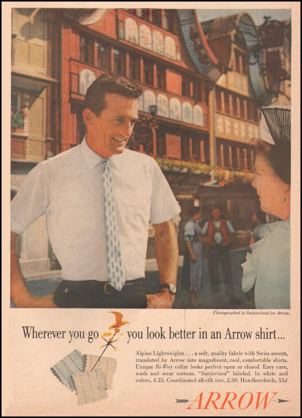ARROW ALPINE LIGHTWEIGHT SHIRTS SATURDAY EVENING POST 06/11/1960 p. 131