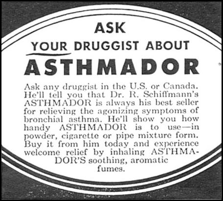 ASTHMADOR WOMAN'S DAY 12/01/1954 p. 118