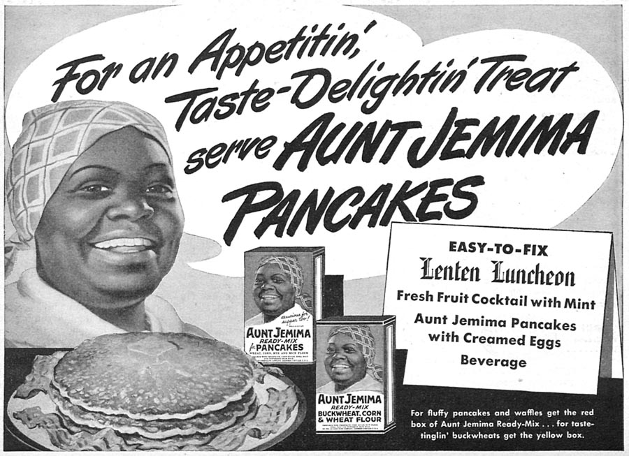 AUNT JEMIMA READY-MIX FOR PANCAKES WOMAN'S DAY 04/01/1946 p. 65