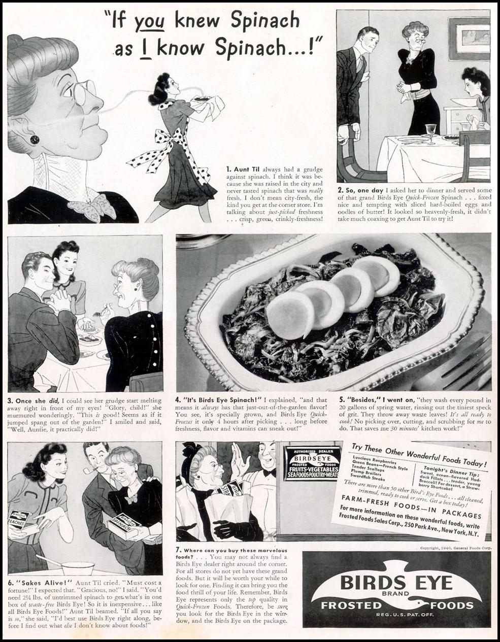 BIRDS EYE FROZEN FOODS LIFE 09/30/1940 p. 16