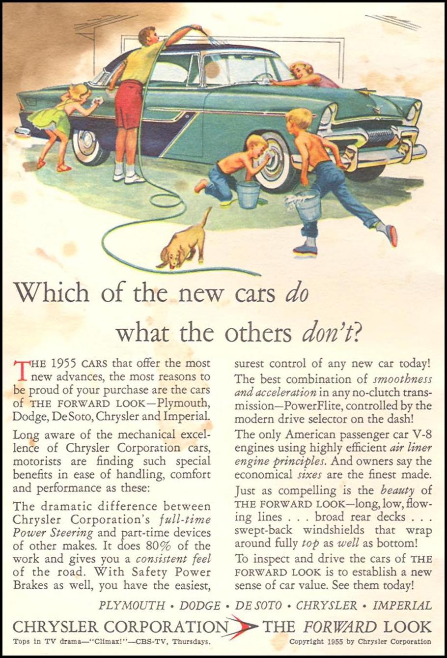 CHRYSLER AUTOMOBILES CORONET 08/01/1955 INSIDE FRONT