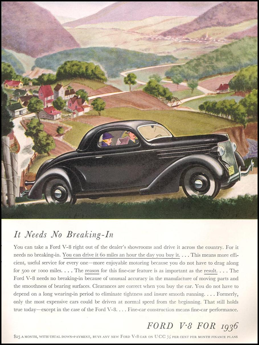 FORD AUTOMOBILES GOOD HOUSEKEEPING 04/01/1936