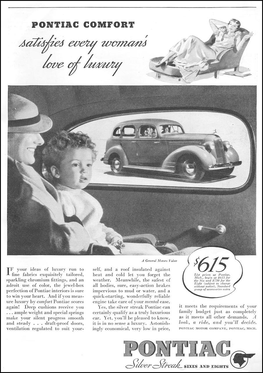 PONTIAC AUTOMOBILES GOOD HOUSEKEEPING 06/01/1935 p. 129