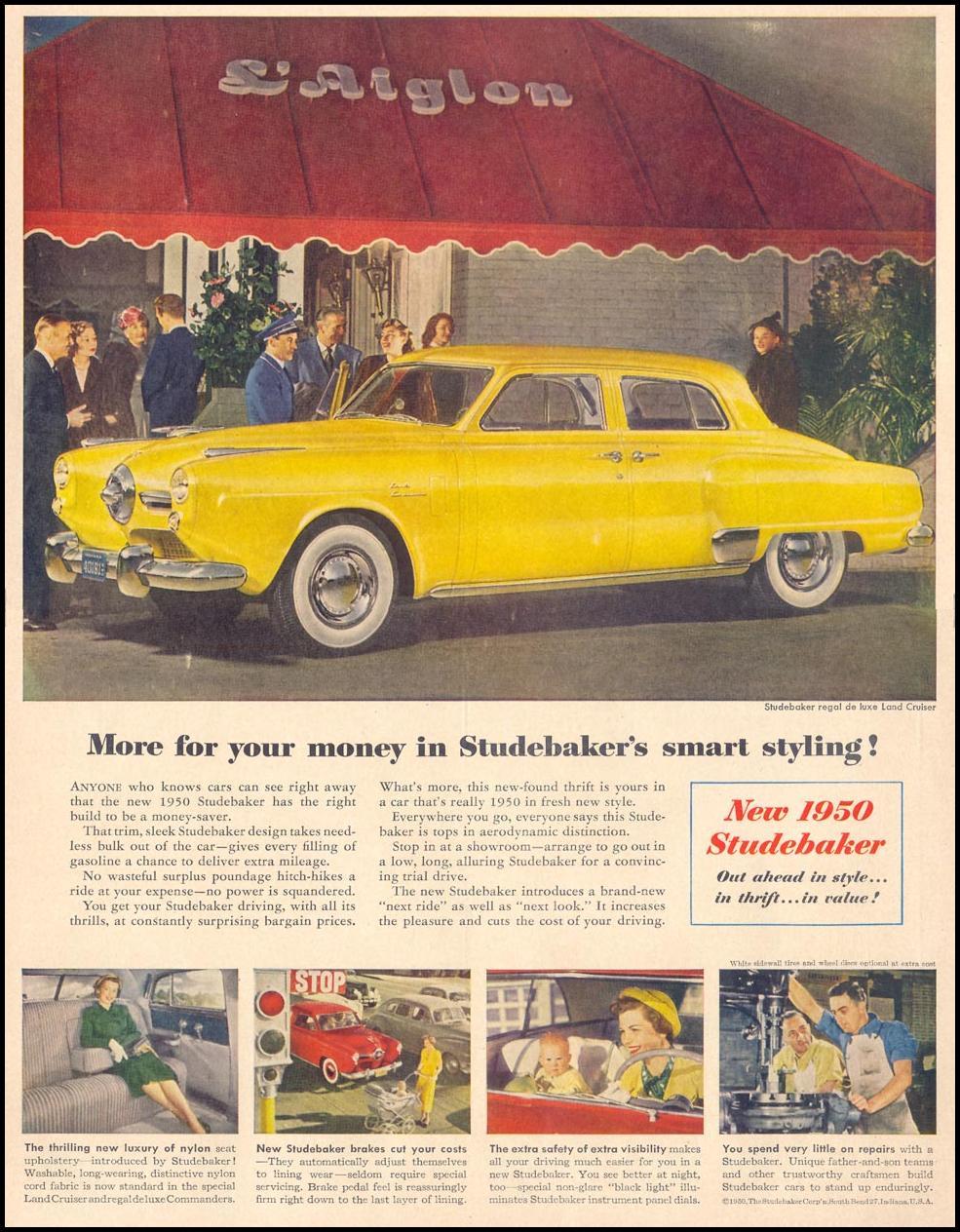 STUDEBAKER AUTOMOBILES LIFE 04/17/1950 p. 58