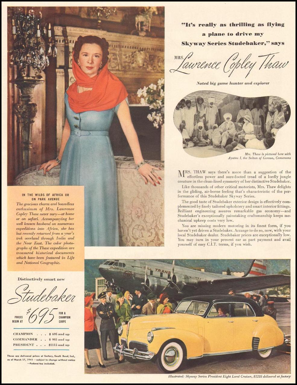 STUDEBAKER AUTOMOBILES LIFE 04/28/1941 p. 75