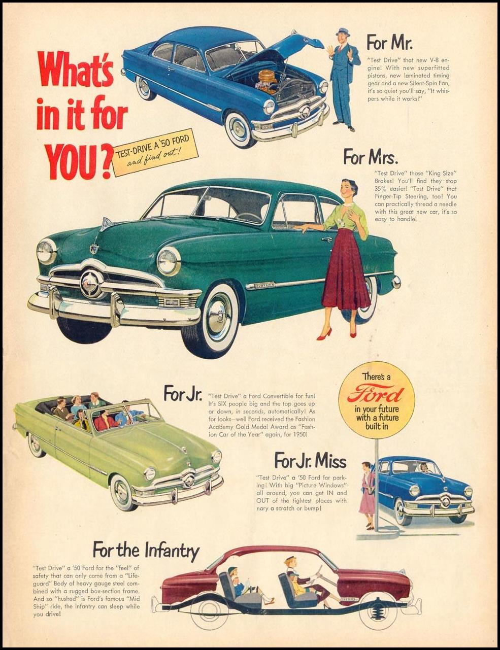 FORD AUTOMOBILES LIFE 06/05/1950 p. 5