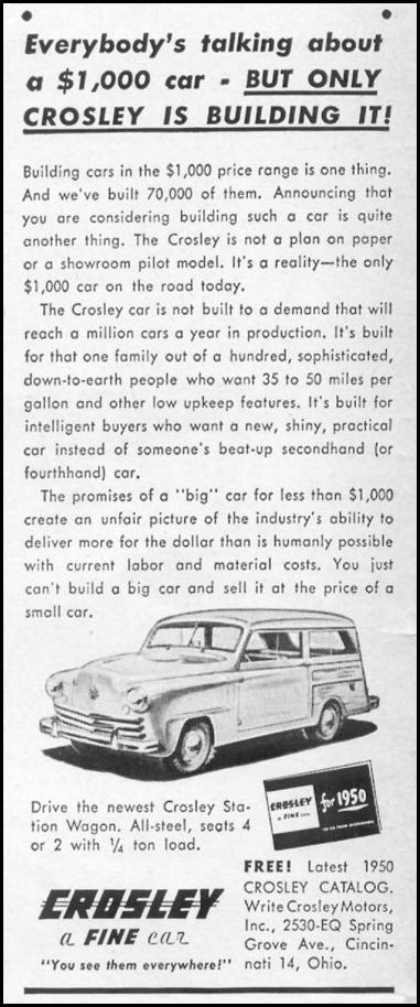 CROSLEY AUTOMOBILES LIFE 06/05/1950 p. 10