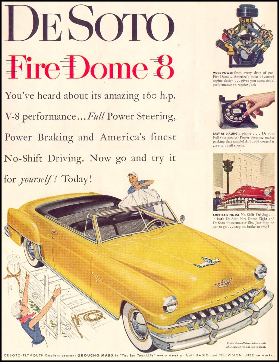 DE SOTO AUTOMOBILES LIFE 06/16/1952 p. 114