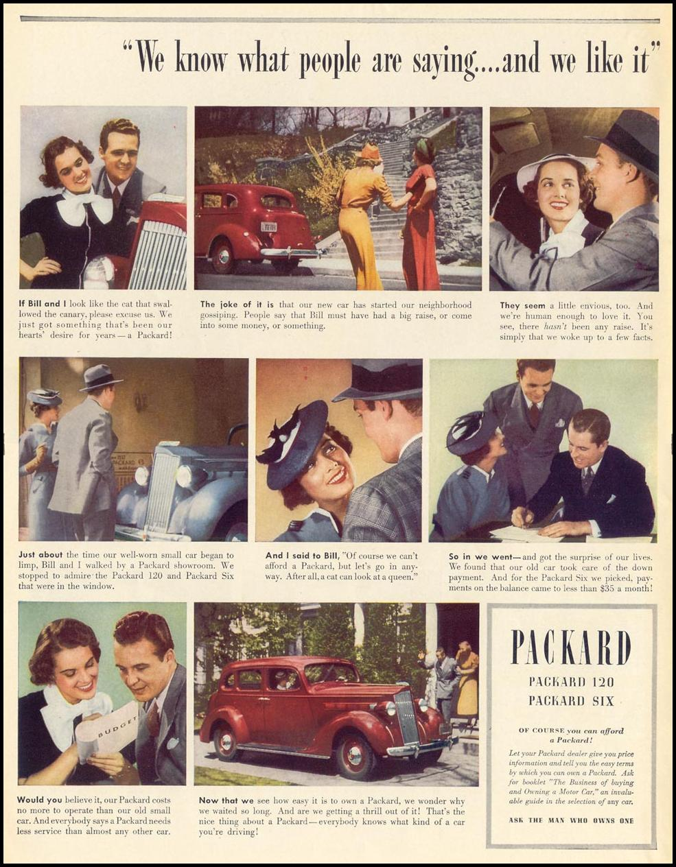 PACKARD AUTOMOBILES LIFE 07/26/1937