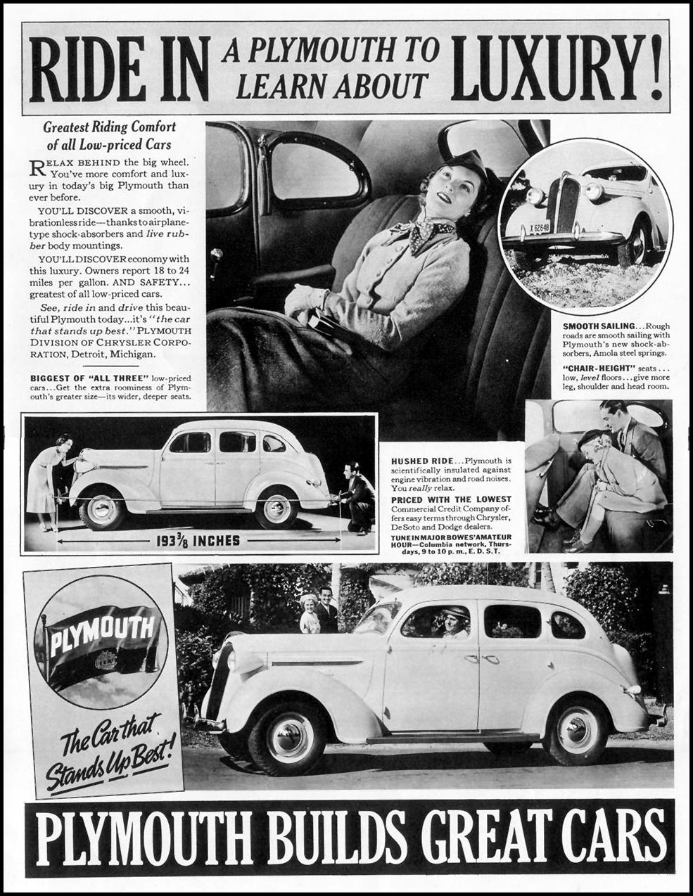 PLYMOUTH AUTOMOBILES LIFE 08/30/1937 p. 1