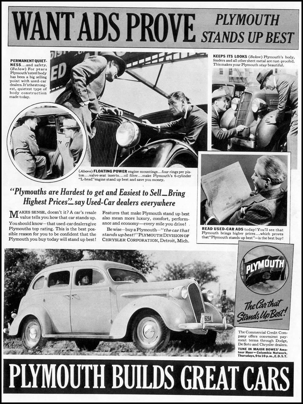 PLYMOUTH AUTOMOBILES LIFE 09/13/1937 p. 1