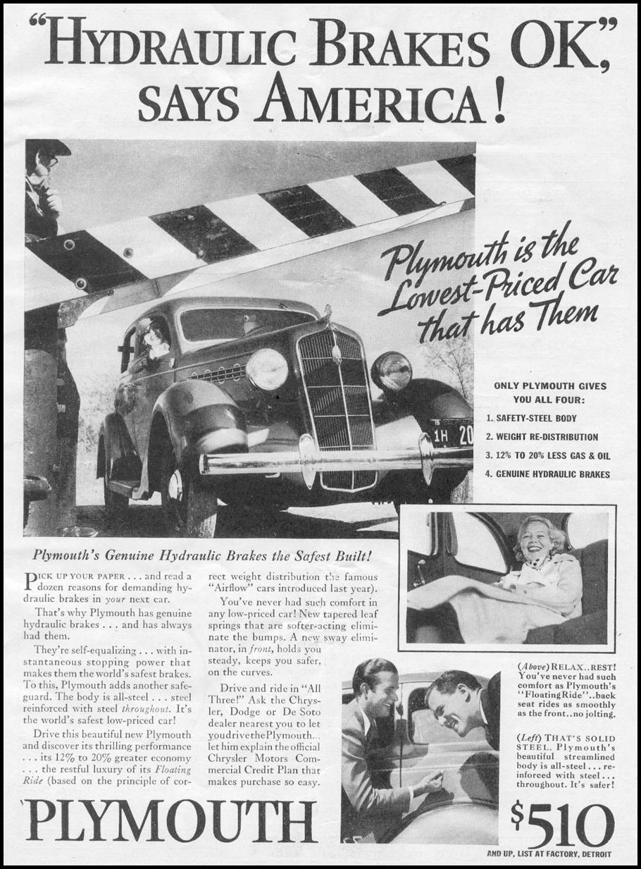 PLYMOUTH AUTOMOBILES NEWSWEEK 05/04/1935 p. 1