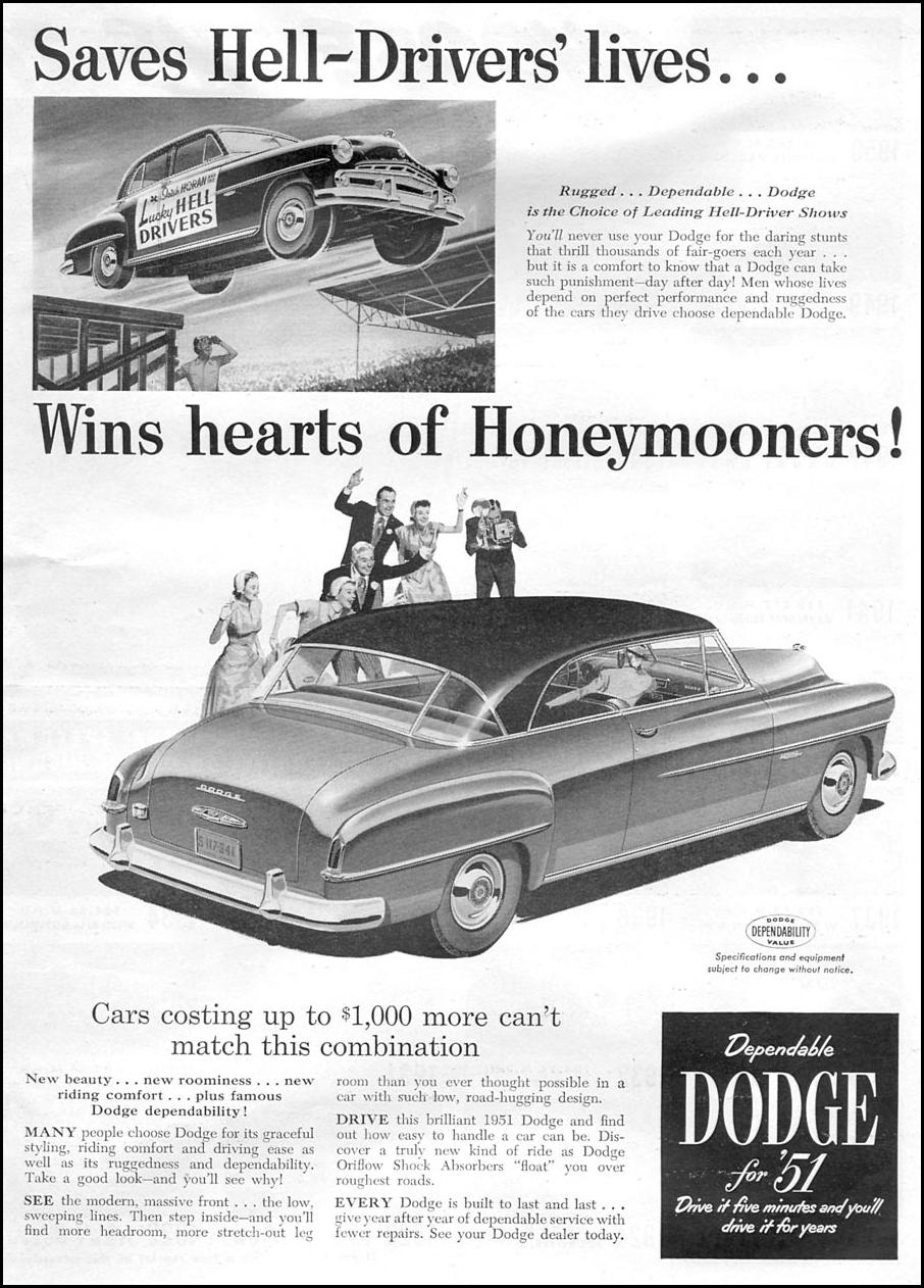 DODGE AUTOMOBILES NEWSWEEK 06/11/1951 p. 3