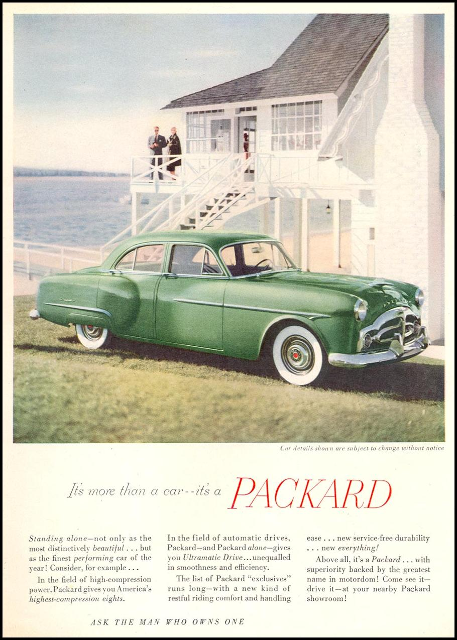 PACKARD AUTOMOBILES NEWSWEEK 06/11/1951 p. 65