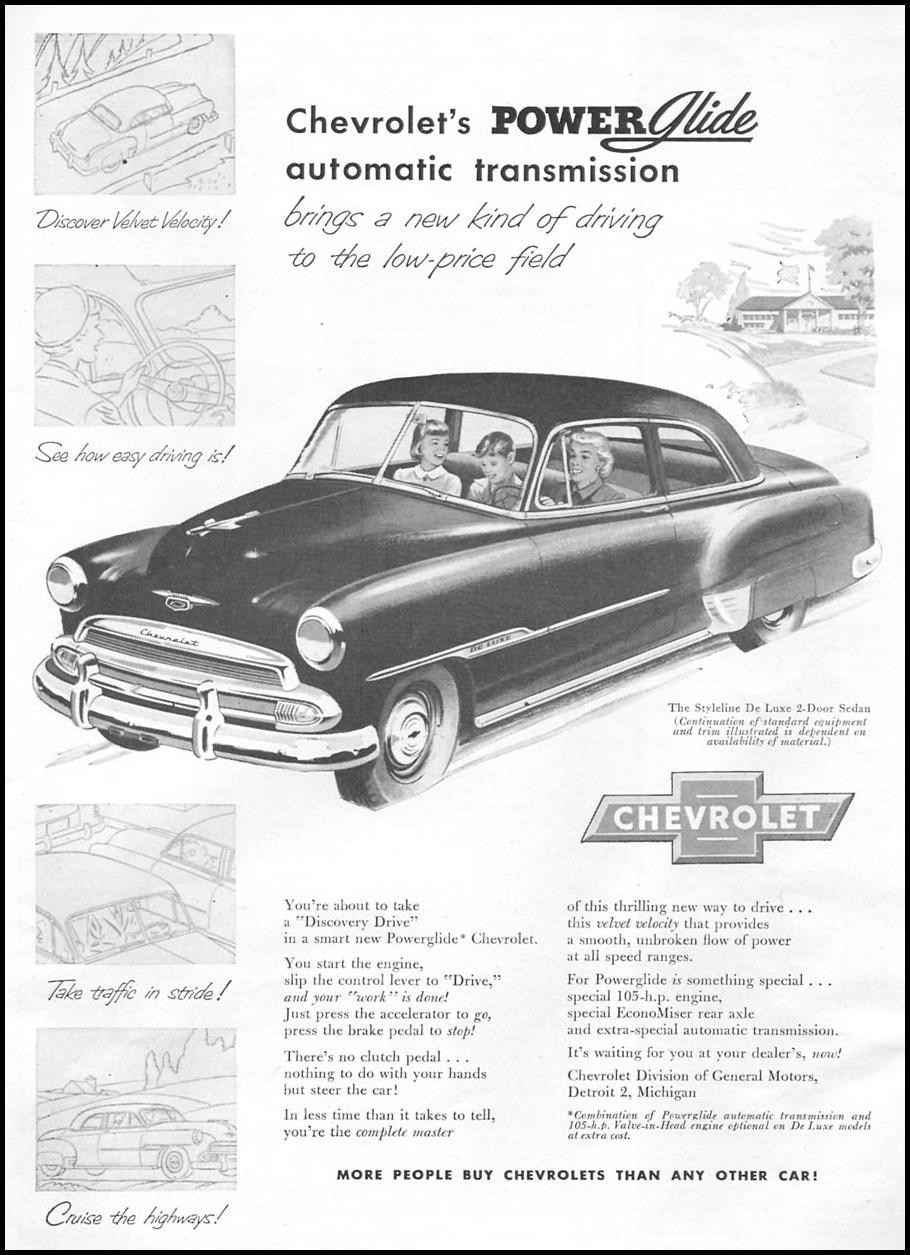 CHEVROLET AUTOMOBILES NEWSWEEK 09/03/1951 p. 59