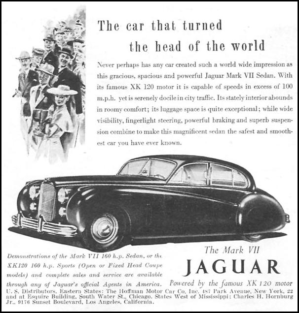 THE MARK VII JAGUAR NEWSWEEK 09/03/1951 p. 69