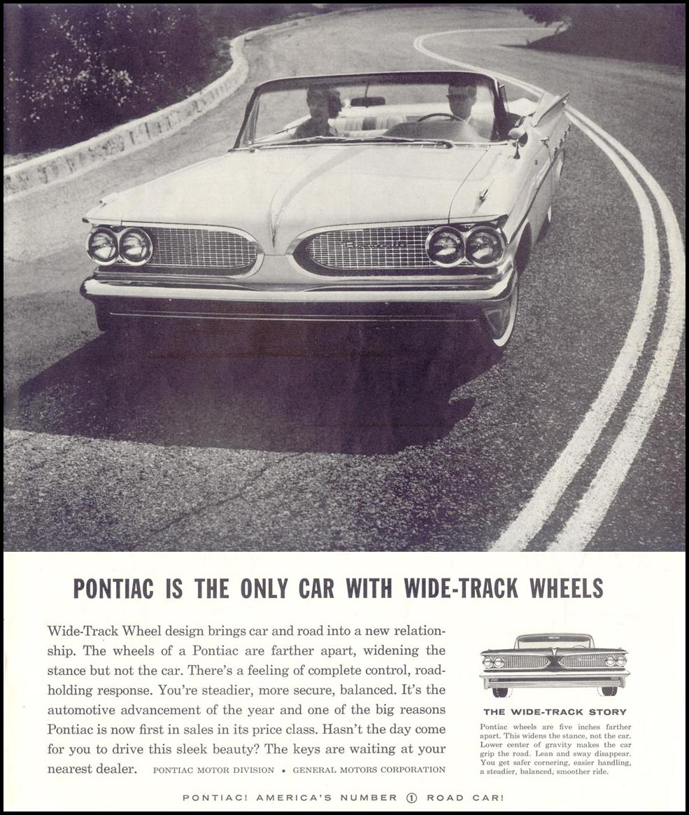 PONTIAC AUTOMOBILES SATURDAY EVENING POST 08/15/1959 p. 51