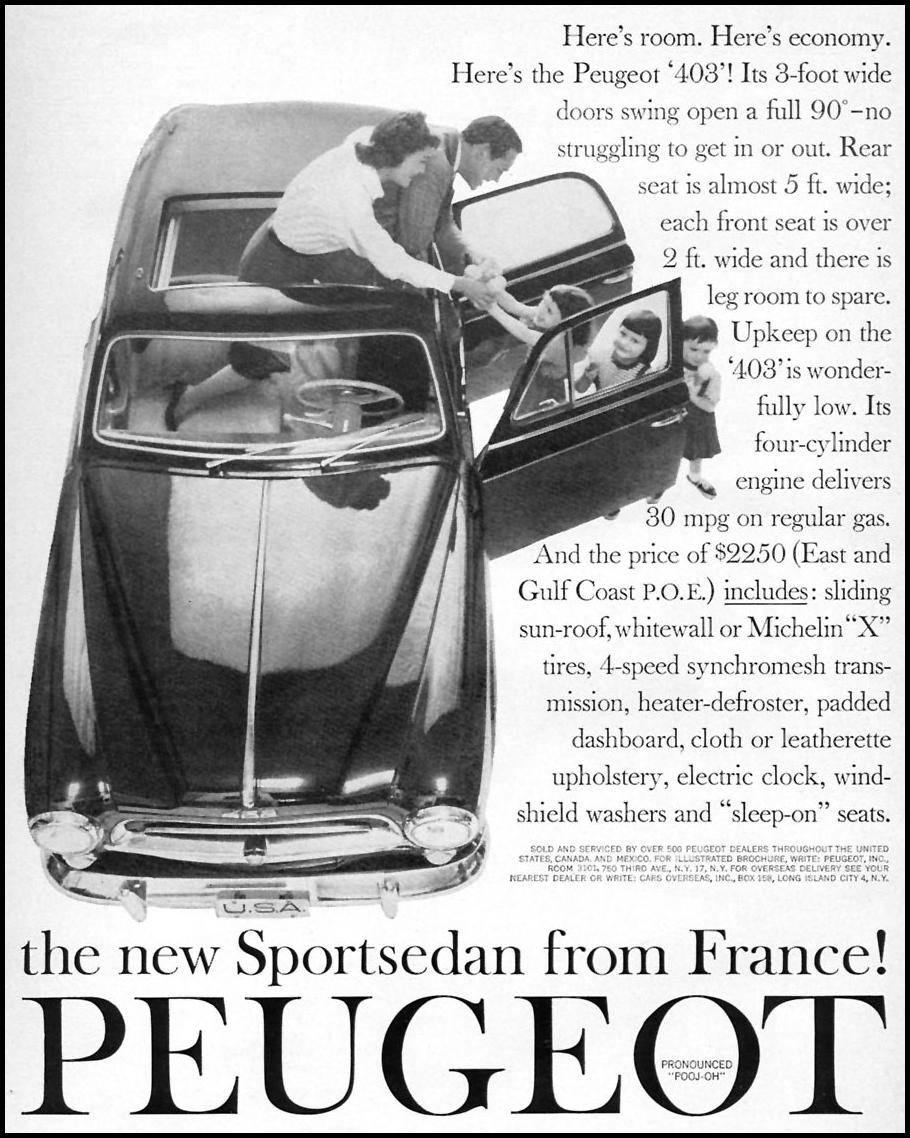 PEUGEOT AUTOMOBILES SPORTS ILLUSTRATED 05/11/1959 p. 79