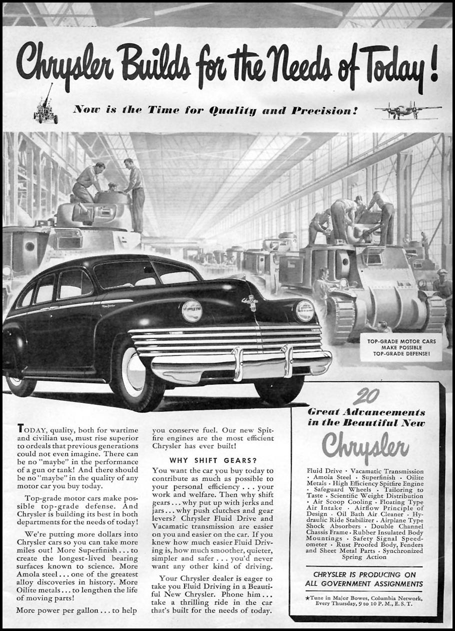 CHRYSLER AUTOMOBILES TIME 01/12/1942 p. 3