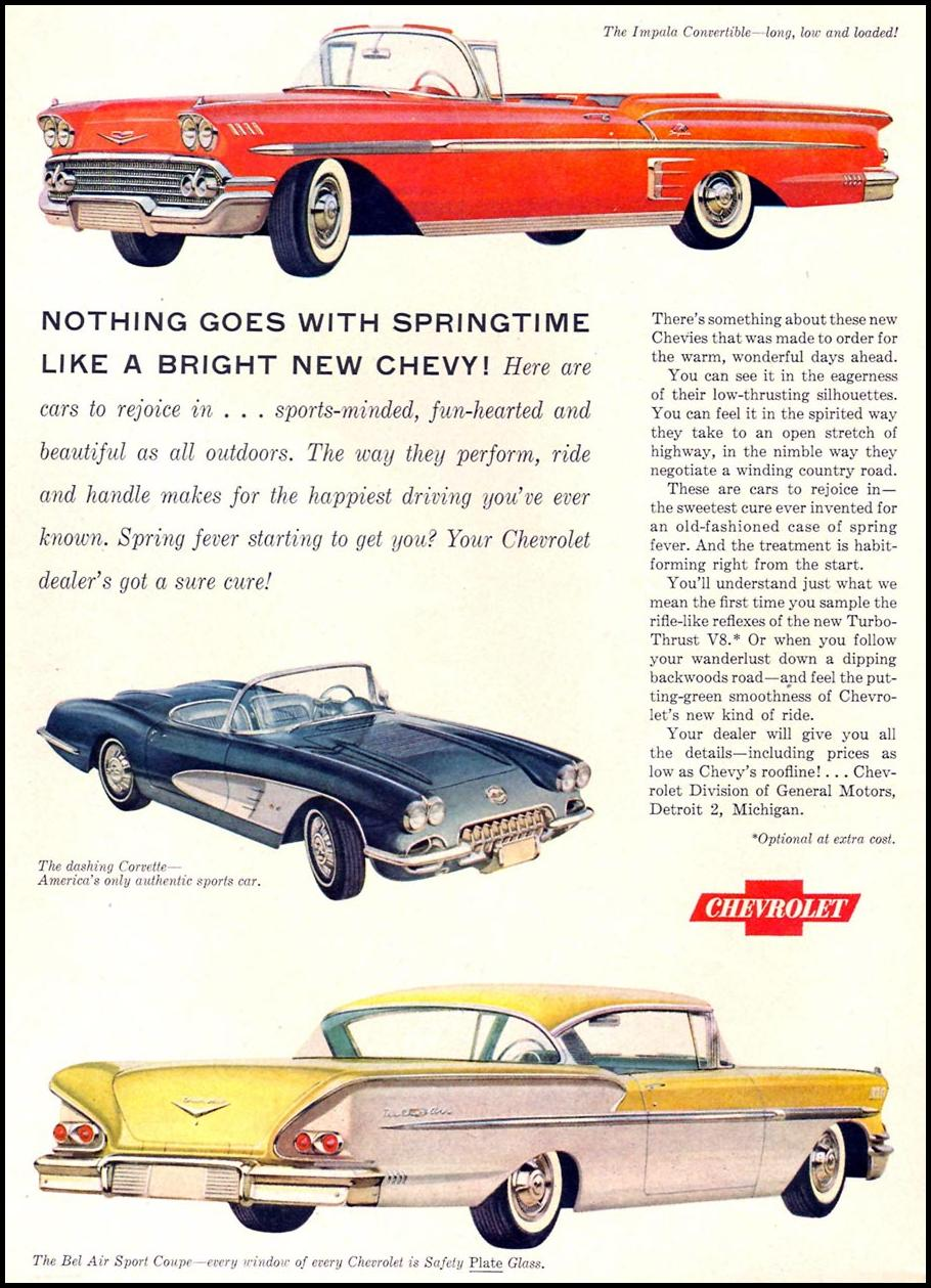 CHEVROLET AUTOMOBILES TIME 05/05/1958 p. 26