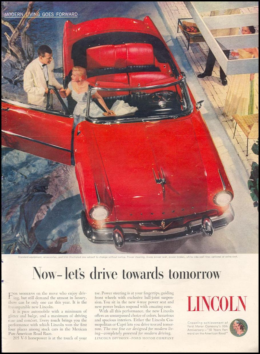 LINCOLN AUTOMOBILES TIME 06/08/1953 p. 43