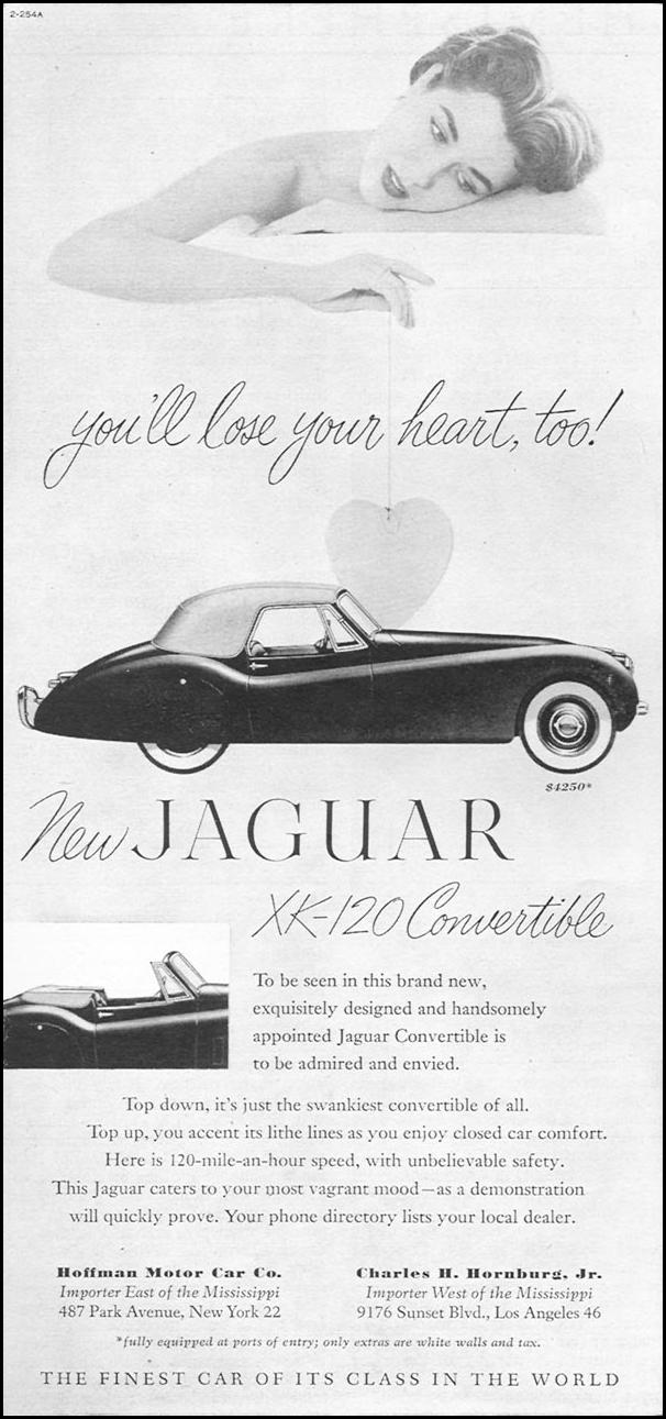 JAGUAR XK-120 CONVERTIBLE TIME 06/08/1953 p. 48