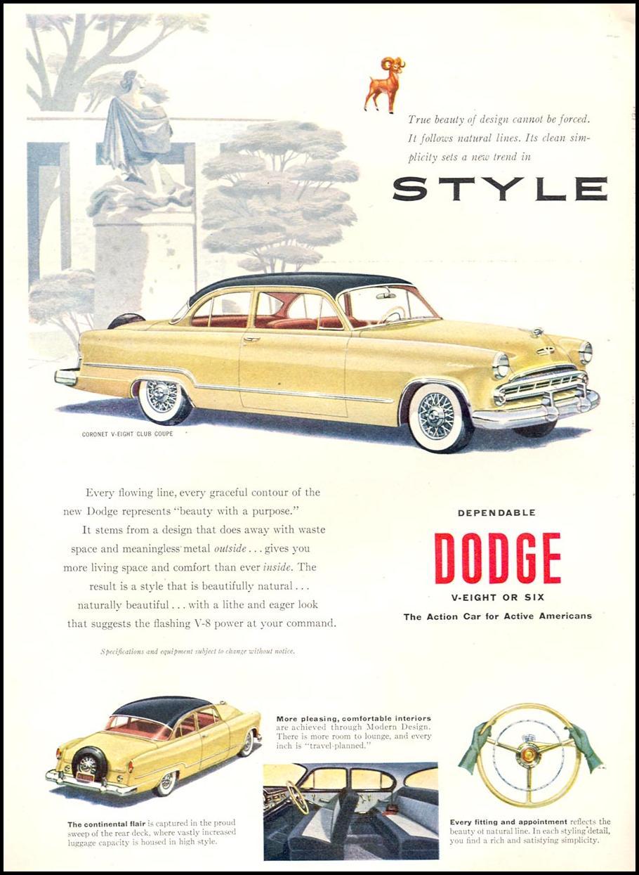 DODGE AUTOMOBILES TIME 06/08/1953 p. 60
