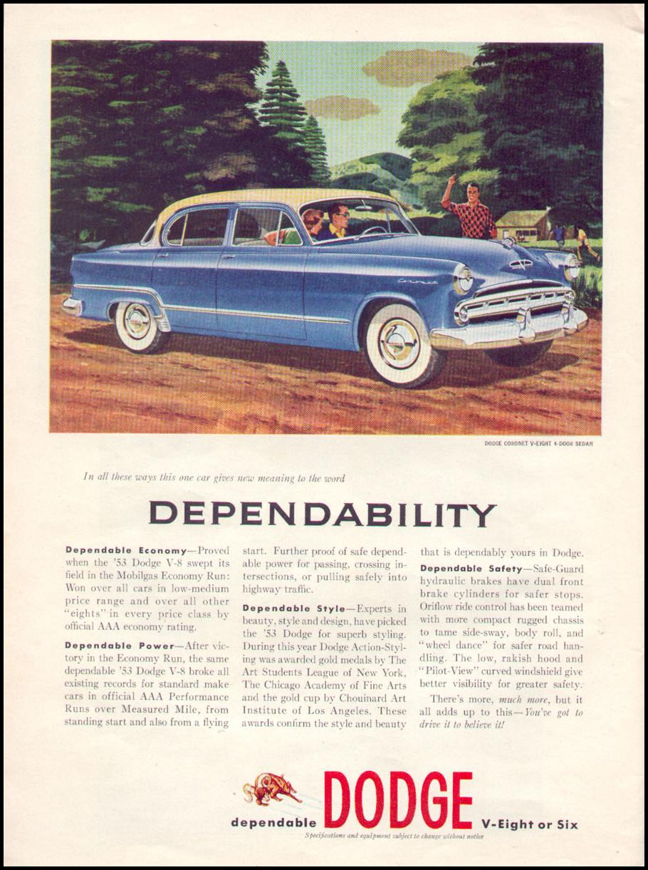 DODGE AUTOMOBILES TIME 08/17/1953 p. 76