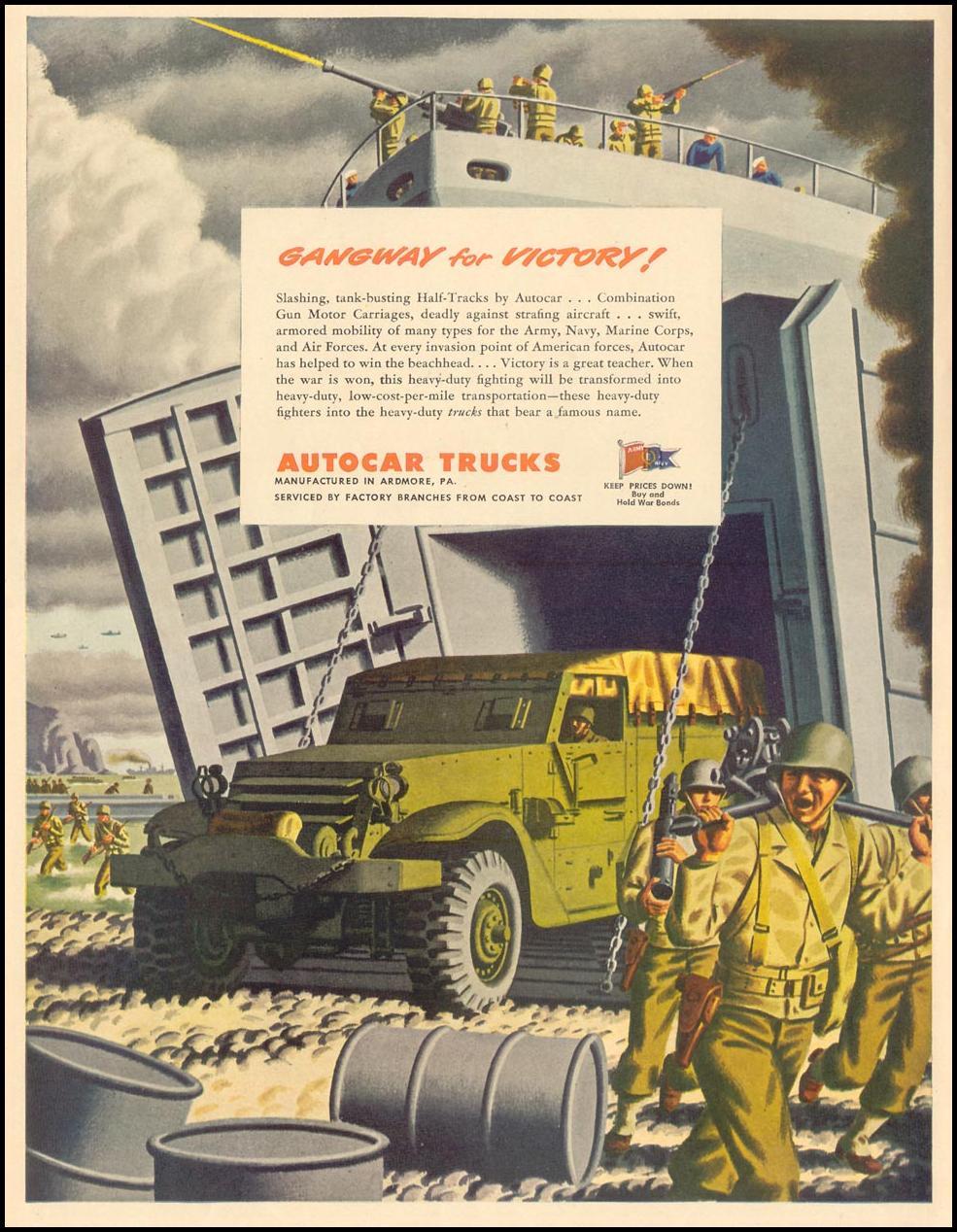 AUTOCAR TRUCKS LIFE 02/28/1944