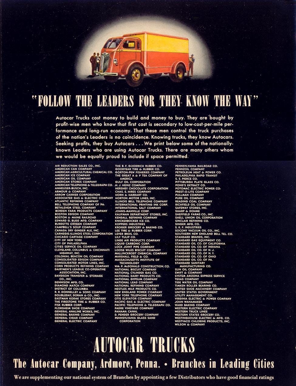 AUTOCAR TRUCKS LIFE 09/27/1937