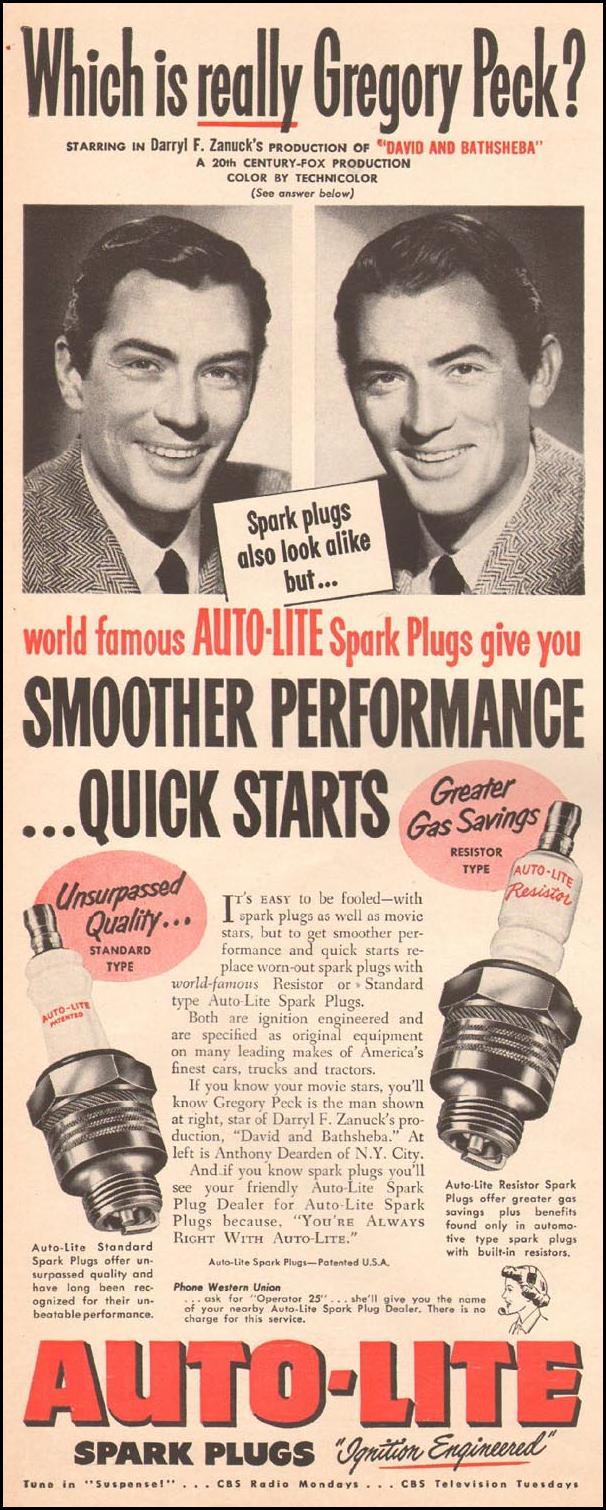 AUTO-LITE SPARK PLUGS LIFE 10/01/1951 p. 80
