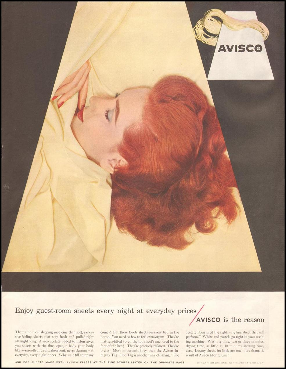 AVISCO FIBERS SATURDAY EVENING POST 12/20/1955 p. 111
