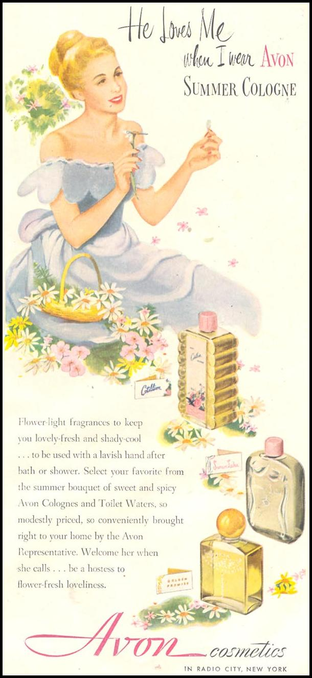AVON COSMETICS GOOD HOUSEKEEPING 07/01/1948 p. 189
