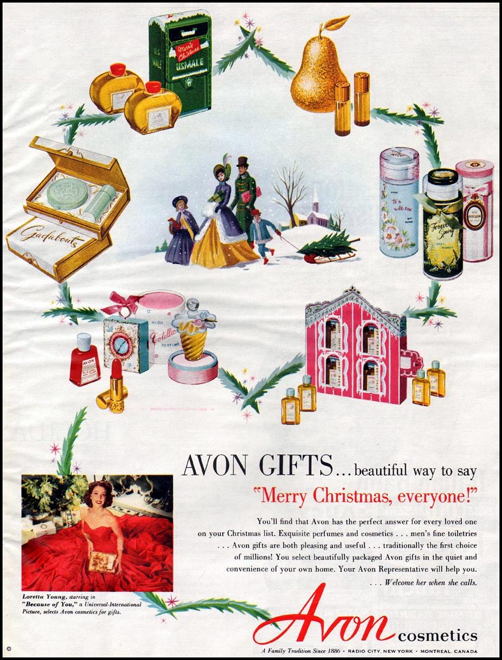AVON COSMETICS WOMAN'S HOME COMPANION 12/01/1952 p. 113