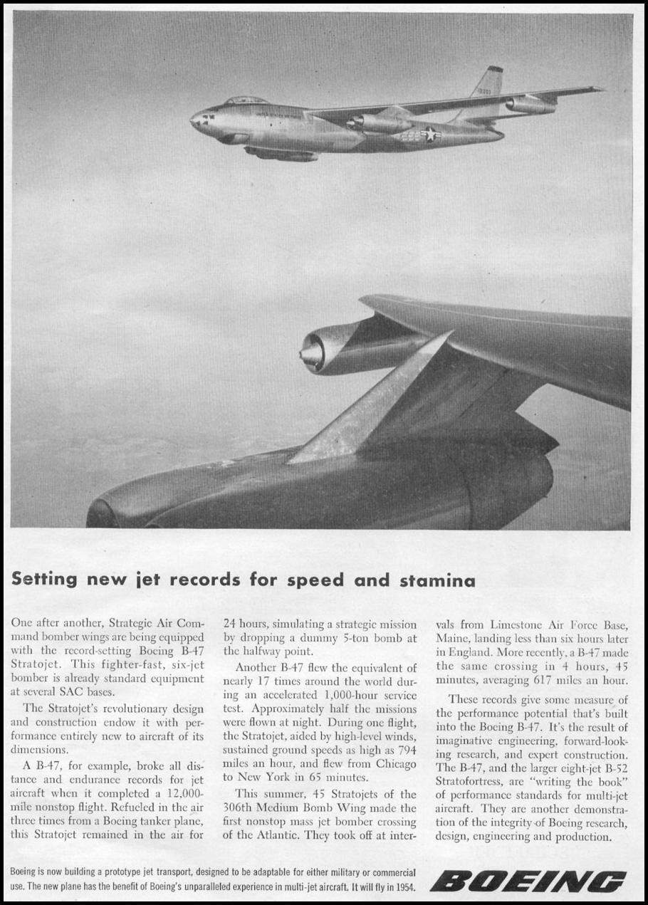 B-47 STRATOJET BOMBER TIME 08/31/1953 p. 29