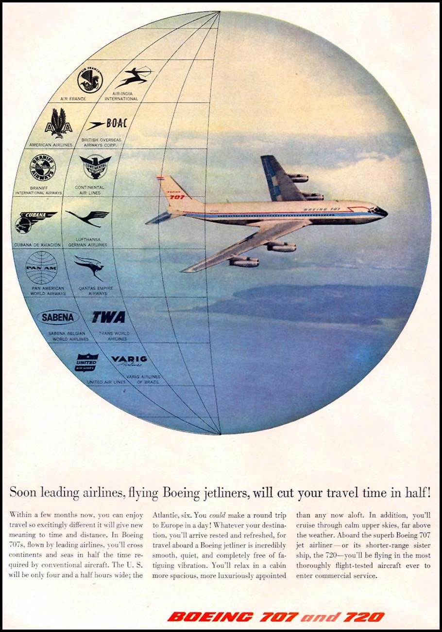BOEING 707 AND 720 JETLINERS TIME 05/05/1958 p. 32