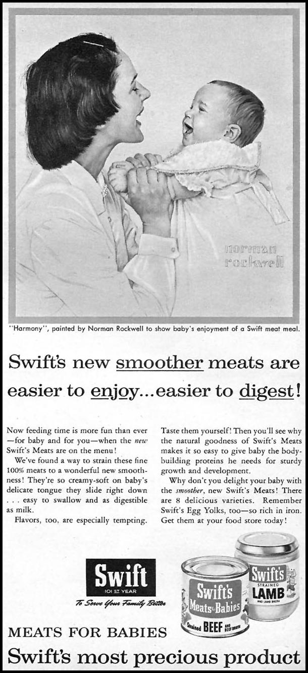 SWIFT'S MEATS FOR BABIES FAMILY CIRCLE 01/01/1956 p. 67