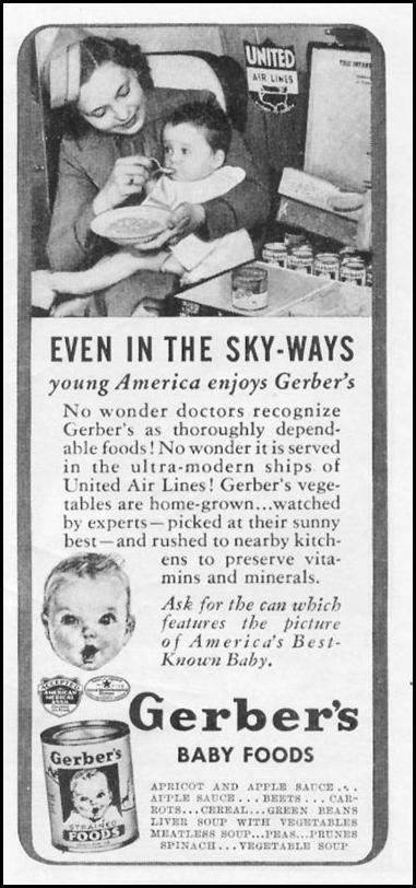 GERBER'S BABY FOODS WOMAN'S DAY 03/01/1939 p. 44