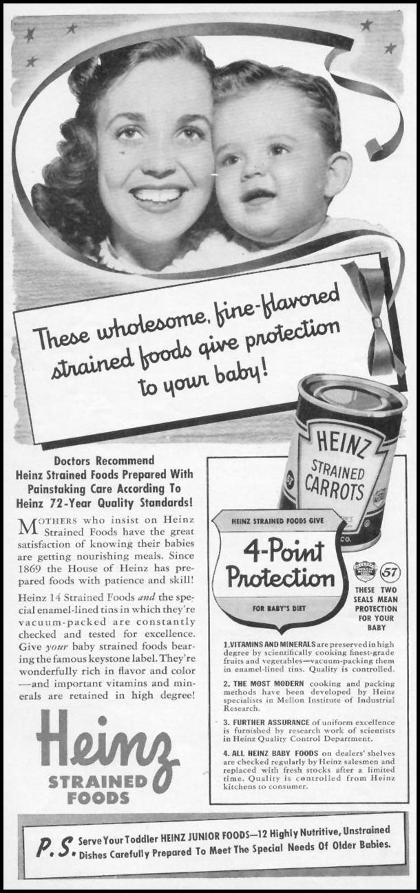 HEINZ STRAINED FOODS WOMAN'S DAY 06/01/1941 p. 56