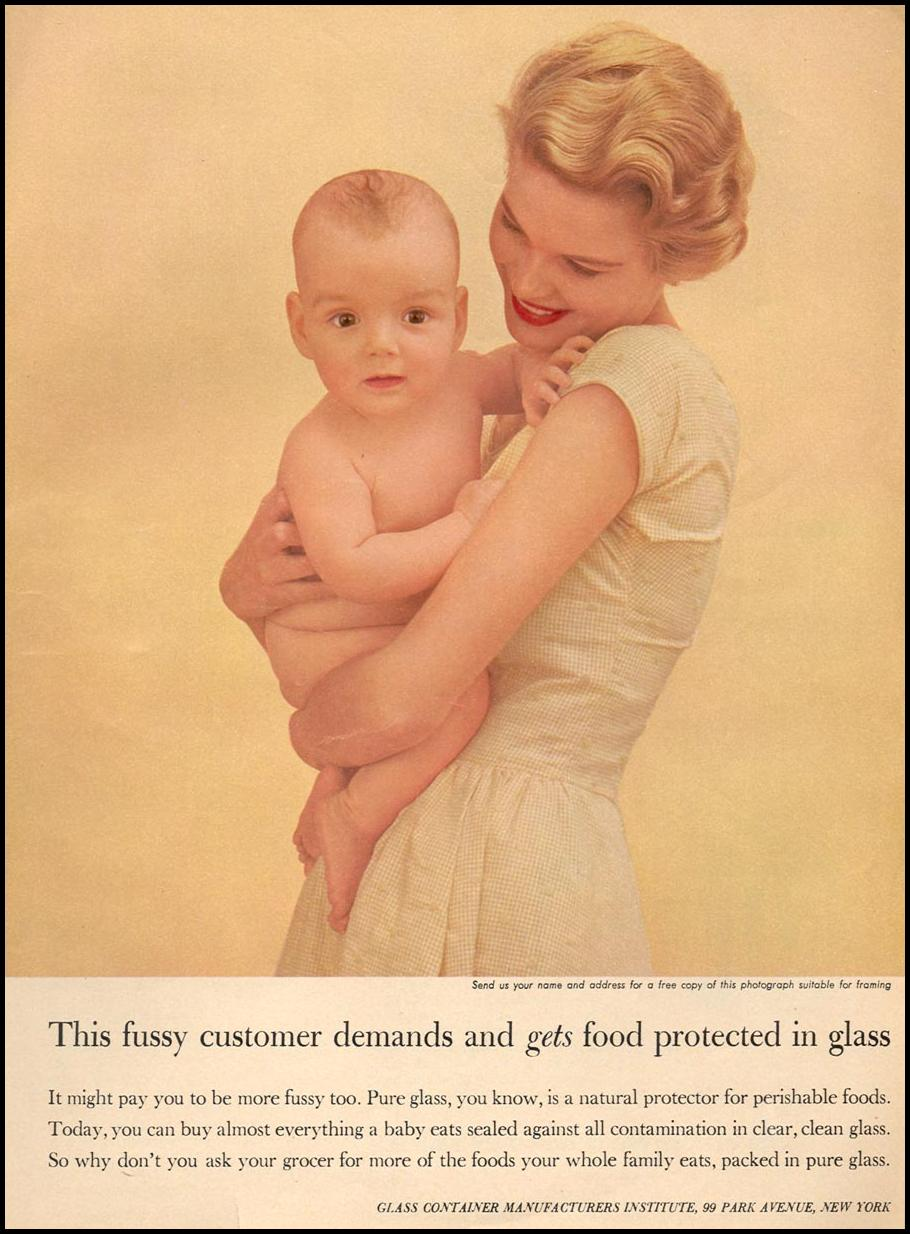 GLASS CONTAINERS WOMAN'S DAY 09/01/1955 p. 21