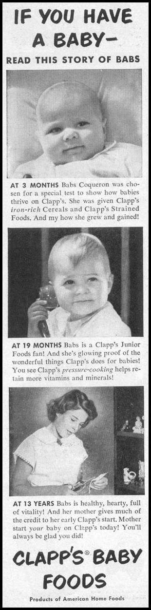 CLAPP'S BABY FOODS WOMAN'S DAY 10/01/1949 p. 4