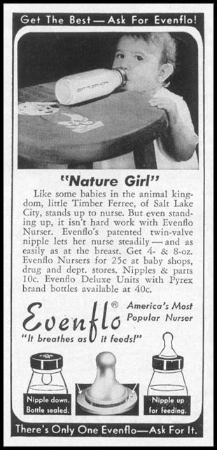 EVENFLO BABY NURSERS WOMAN'S DAY 10/01/1949 p. 92