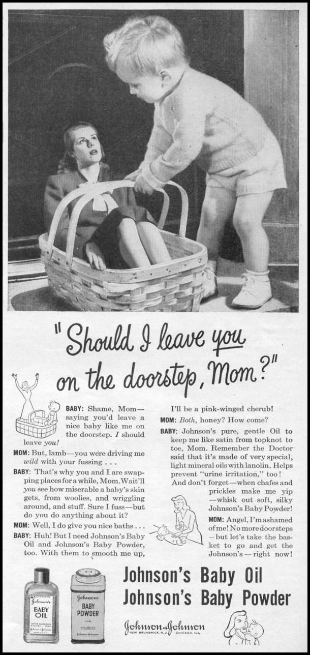 JOHNSON'S BABY PRODUCTS WOMAN'S DAY 11/01/1945 p. 71