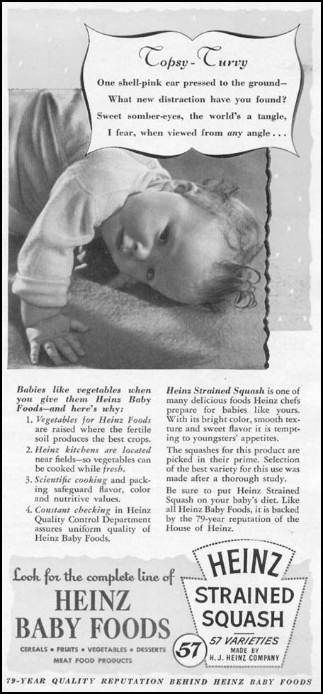 HEINZ BABY FOODS WOMAN'S DAY 12/01/1948 p. 89