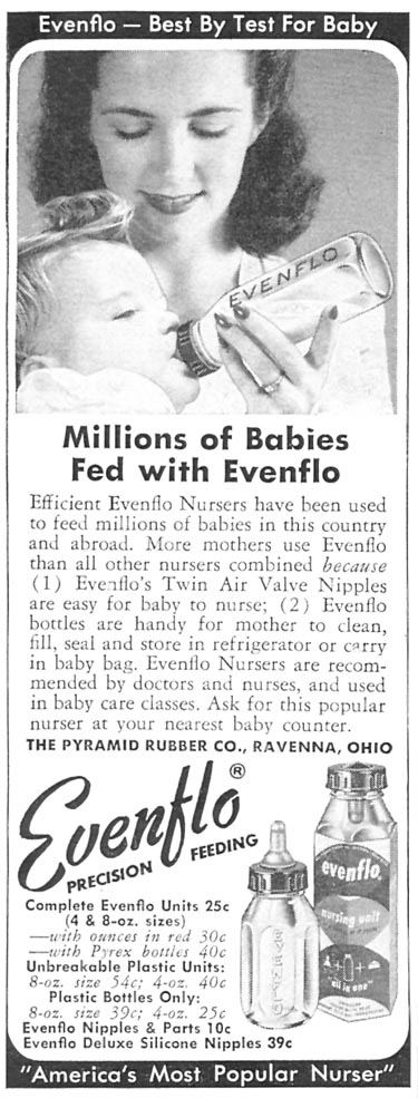 EVENFLO BABY NURSER WOMAN'S DAY 12/01/1954 p. 116