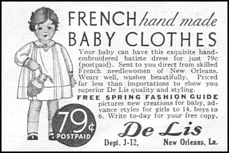 FRENCH HAND MADE BABY CLOTHES GOOD HOUSEKEEPING 01/01/1932 p. 171