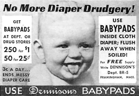 DENNISON'S BABY PADS GOOD HOUSEKEEPING 04/01/1936 p. 245