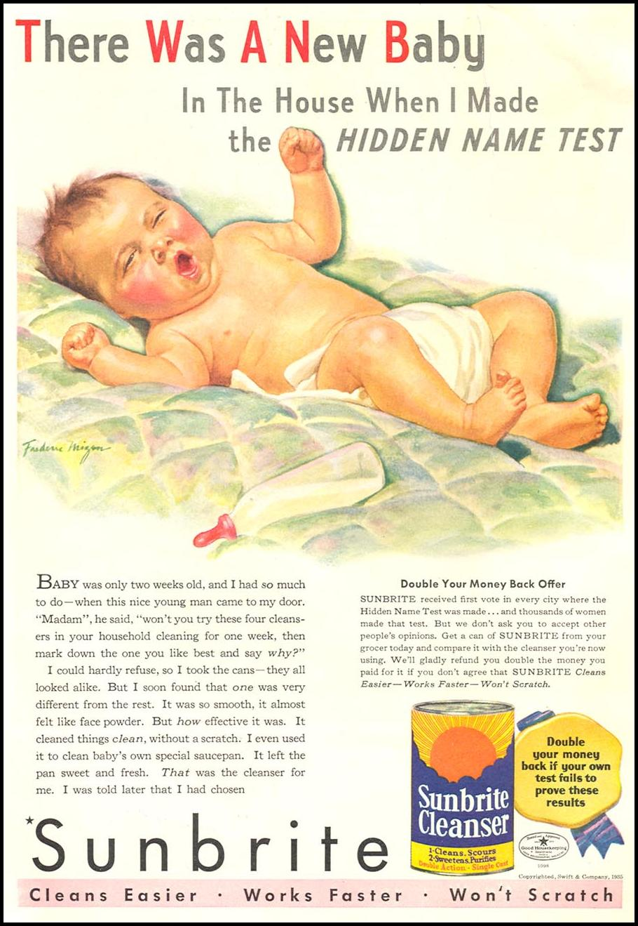 SUNBRITE CLEANSER GOOD HOUSEKEEPING 06/01/1935 p. 116
