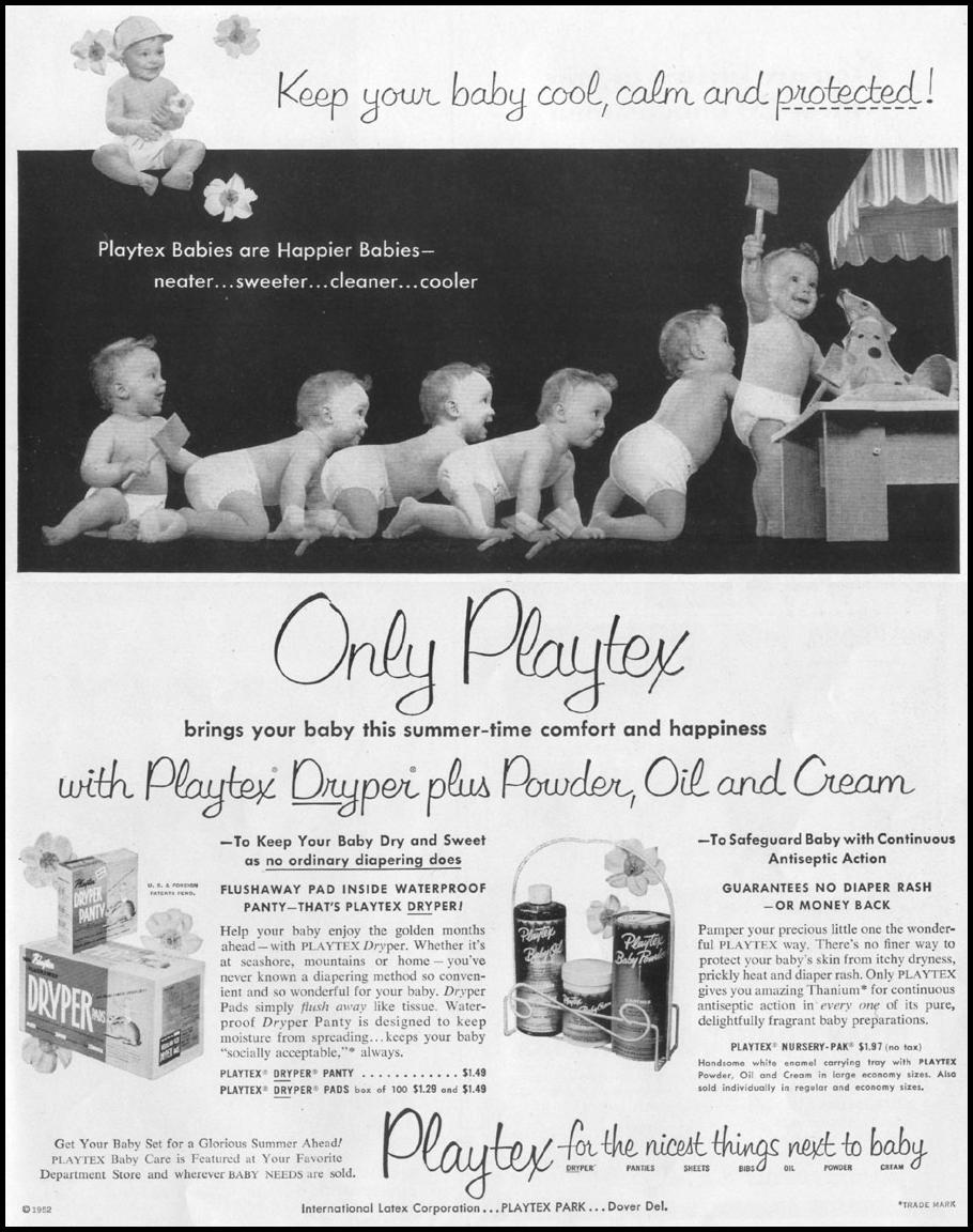 PLAYTEX BABY CARE PRODUCTS LIFE 06/16/1952 p. 77